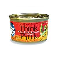Think Pink Wild Alaska Pink Salmon -The Original Smart Al-TUNA-tive!, (12) 7.5 Oz...