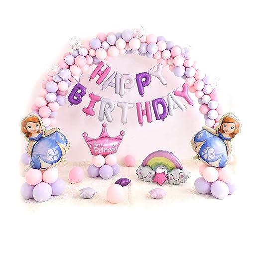 Globos para fiesta de cumpleaños de princesa - Super forma ...