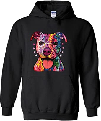 Merry Christmas Love My Pitbull Mens Printed Hooded Sweatshirt Hoody