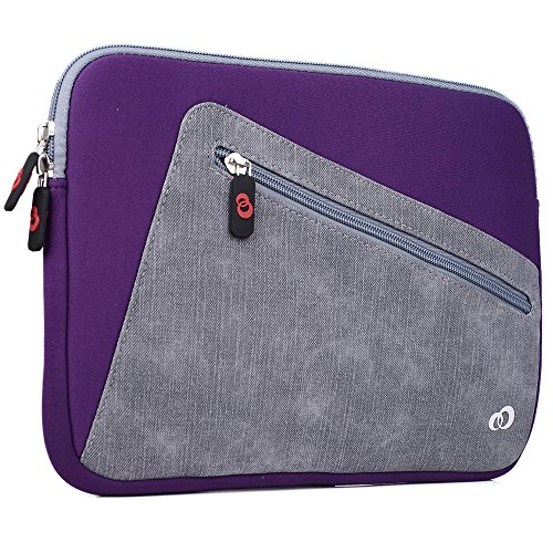 "Kroo Vortex Sleeve W/Accessory Pocket fits Polaroid 9-inch, S9, Ematic 10"" Genesis Prime XL Tablet (Acai Purple/StoneGrey Universal Case) -  EnvyDeal, ND11VXU1