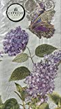 Cypress Home Guest Towels Hostess Buffet Paper Napkins ~ Lavender Victorian Romance 15 ct