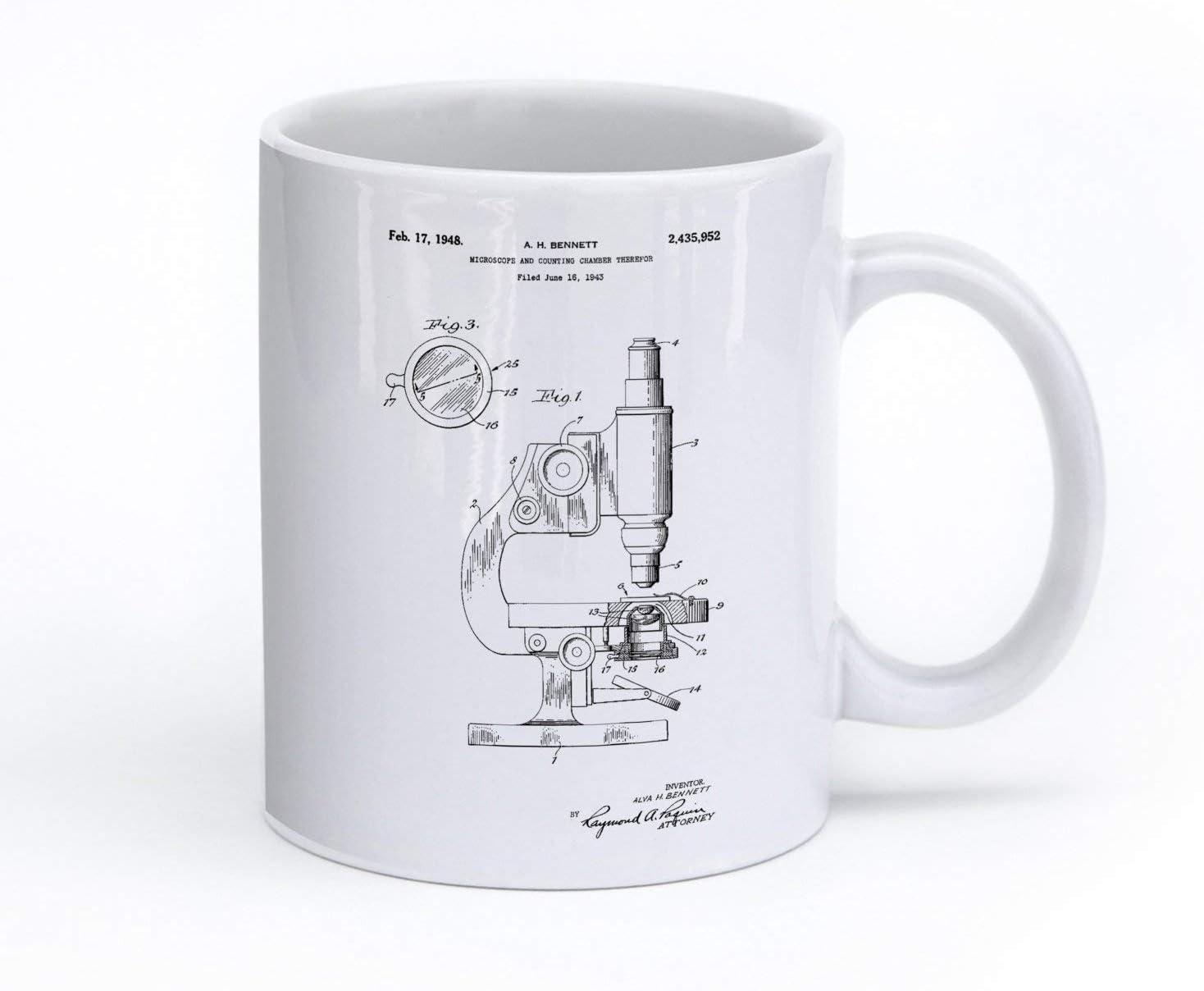 Taza con diseño de microscopio, ideal para regalo de ciencia ...