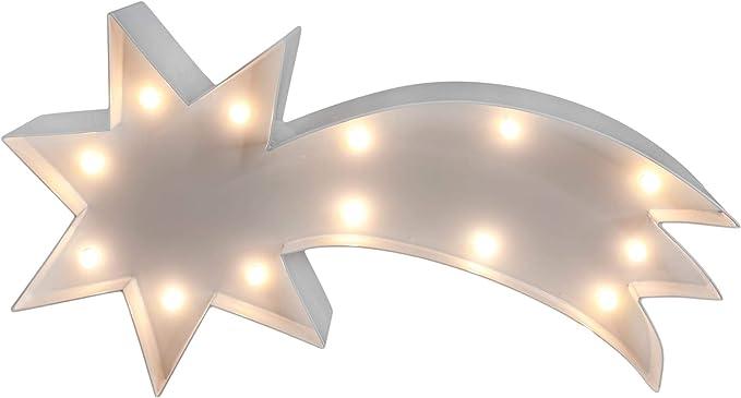 Stella Cadente Di Natale.Marquee Lights Stella Di Natale Con Illuminazione A Led Funzionamento A Batteria In Metallo Verniciato A Polvere Amazon It Illuminazione