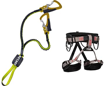 Klettersteigset Edelrid : Klettersteigset edelrid cable lite one touch lacd gurt start