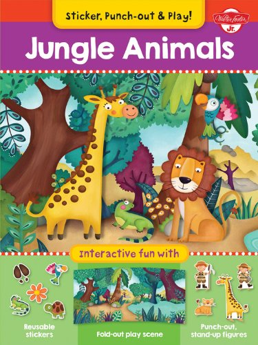 Download Jungle Animals: Interactive fun with fold-out play scene, reusable stickers, and punch-out, stand-up figures! (Sticker, Punch-out, & Play!) PDF