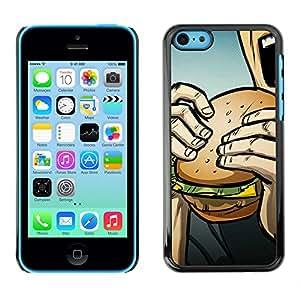 GIFT CHOICE / SmartPhone Carcasa Teléfono móvil Funda de protección Duro Caso Case para iPhone 5C /Pop Art Burger/