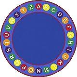 Joy Carpets Kid Essentials Early Childhood Round Alphabet Spots Rug, Multicolored, 7'7''