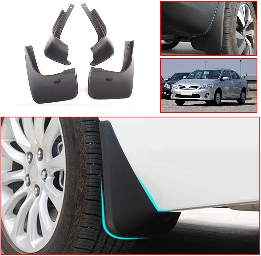Set For 2007 2008 2009 2010 2011 TOYOTA CAMRY Mud Flaps Splash Guards Fender Black