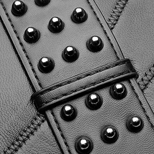 Y & F Shoulder Bags Borsetta In Pelle Di Pecora Nera