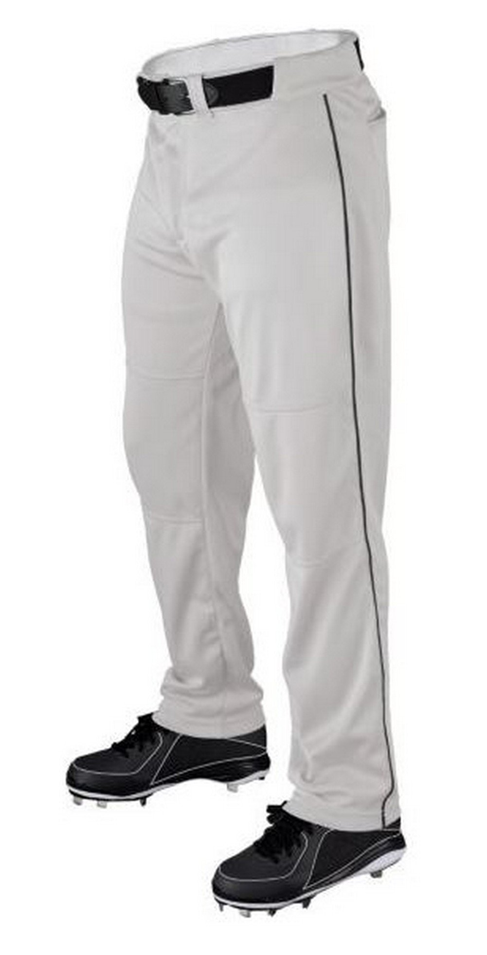 Wilson Youth Classic Relaxed Fit Piped Baseball Pant, White/Black, Small by Wilson