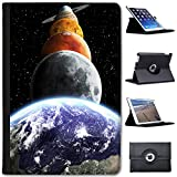 Leather Case For Apple iPad Mini 4 (Will ONLY fit the iPad Mini 4) - Planets Of The Solar System Mars Saturn