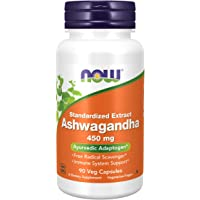 Now Foods Ashwagandha, 450mg,Veg Capsules, 90ct