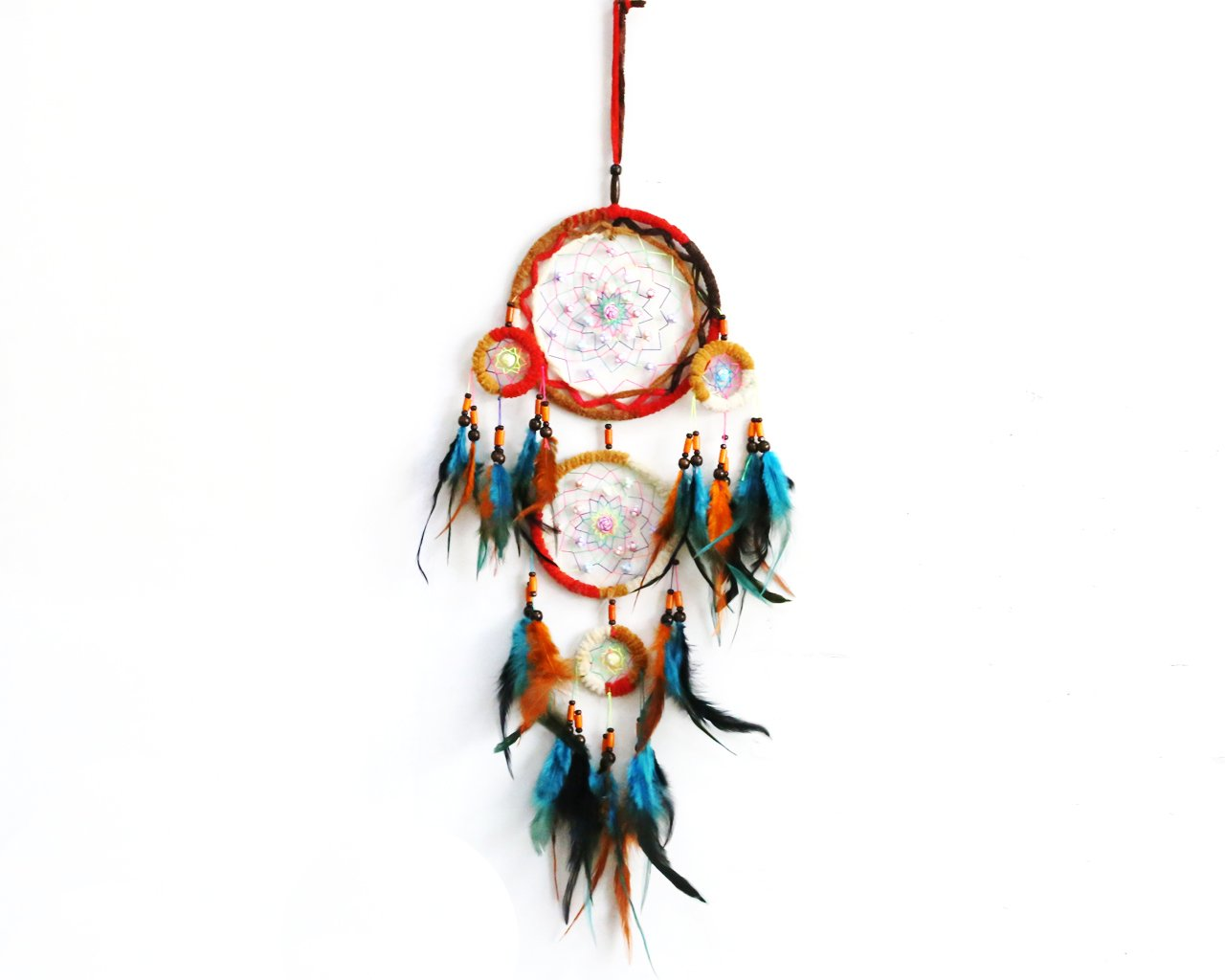 Dream Catcher Dreamcatcher Wall Hanging for Baby Shower Bedroom Nursery Car Decor (Multicolor) Winterworm