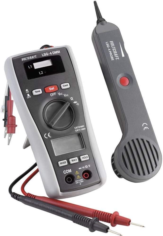 Multim/ètre num/érique avec scanneur de ligne d/étecteur de c/âbles VOLTCRAFT LSG-4 400 m