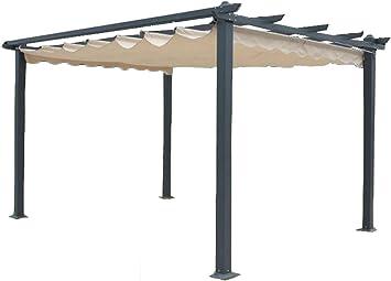 Megashopitalia Cenador Pergola Veranda 3 x 4 MT de Aluminio Toalla ...