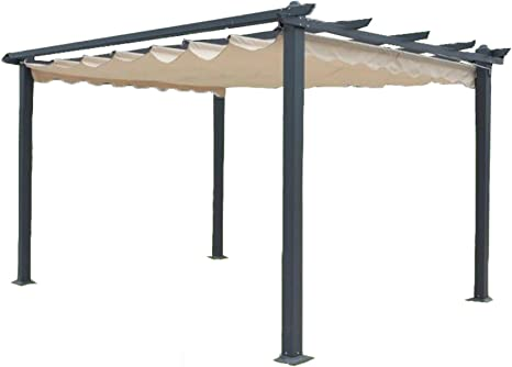 Megashopitalia Cenador Pergola Veranda 3 x 4 MT de Aluminio ...