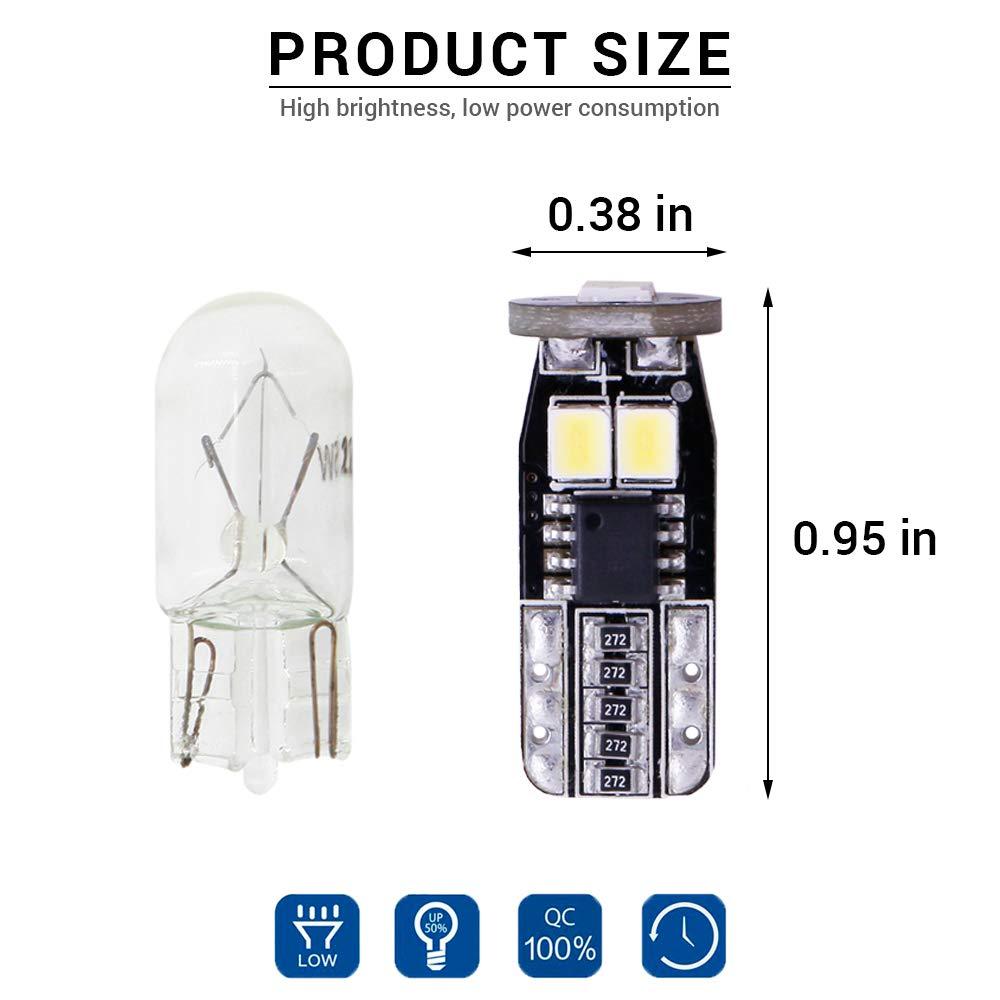 NINGLE 921 LED Reverse Light Bulb White 2000 Lumens Extremely Bright T15 906 912 W16W 579 LED Bulb with Canbus Error Free for Backup Reverse Lamp Pickup Turck Cargo Area Light 6000K Pack of 2