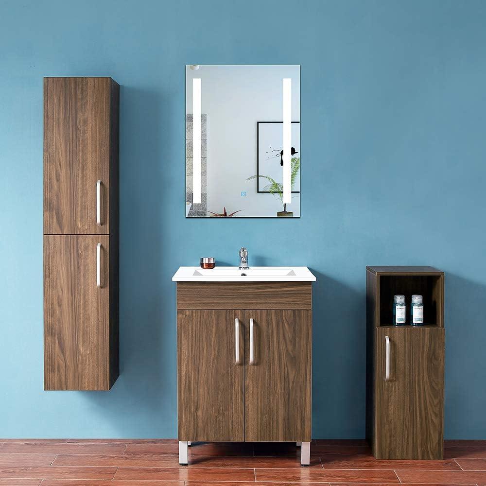 AICA SANITARIOS Espejo de baño 50x70 cm Espejo led - Interruptor ...
