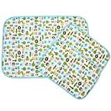 MyKazoe Waterproof Bassinet Play Yard Pad & Lap Pads - Set of 3 (Animal Carnival)
