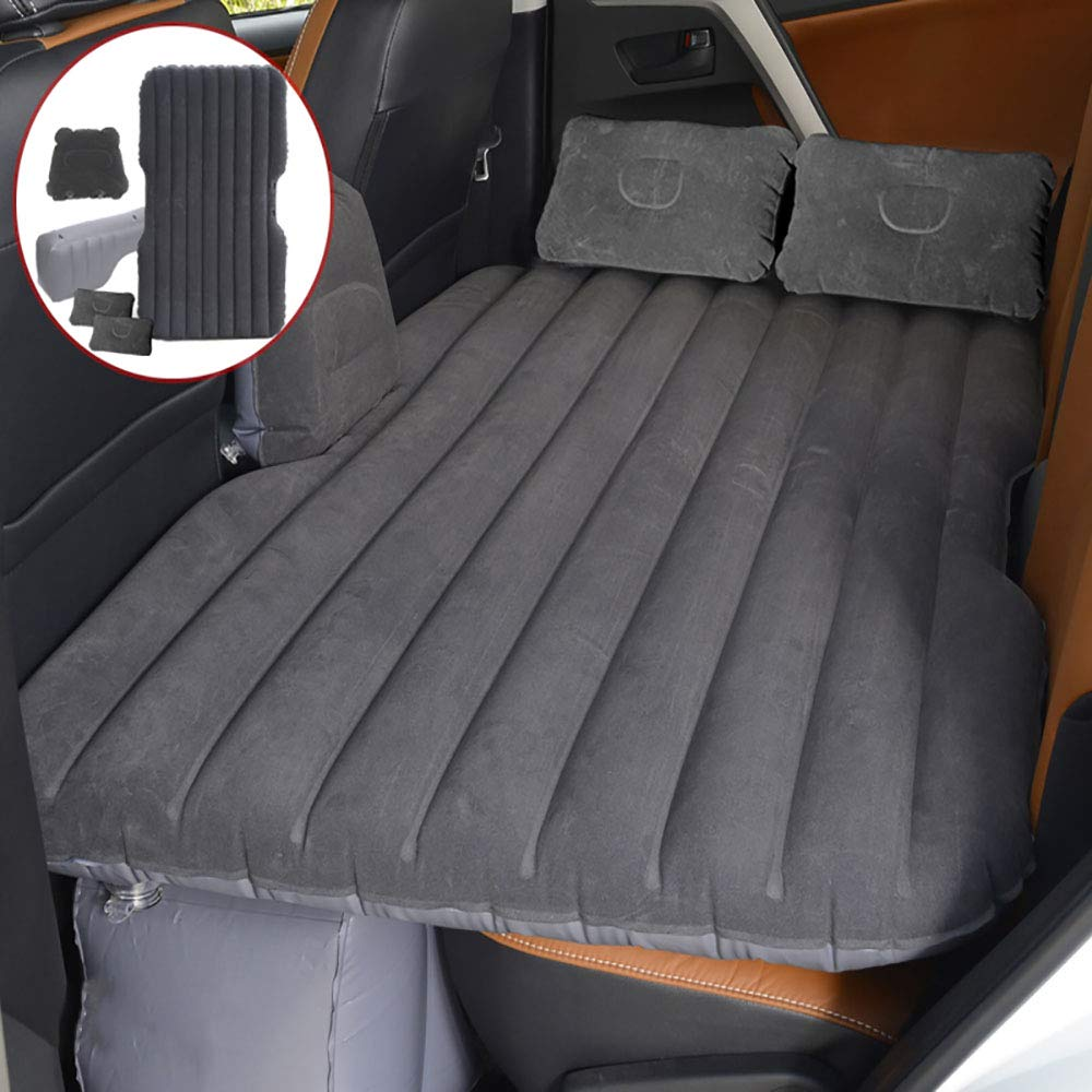 OLDF Auto Travel Inflatable Matratze, Air Bed Cushion Mit 2 Kissen für Auto, Auto-Luft-Pumpe Schlaf Rest Camping universell für SUVs, RVs & Minivans