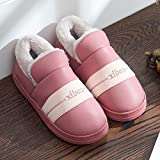 Aemember Couples' Cotton Slippers, Men And Women'S Bags, Indoor Waterproof And Waterproof,36/37 (Suitable For 35/36 Feet At Ordinary Times),Leather Red