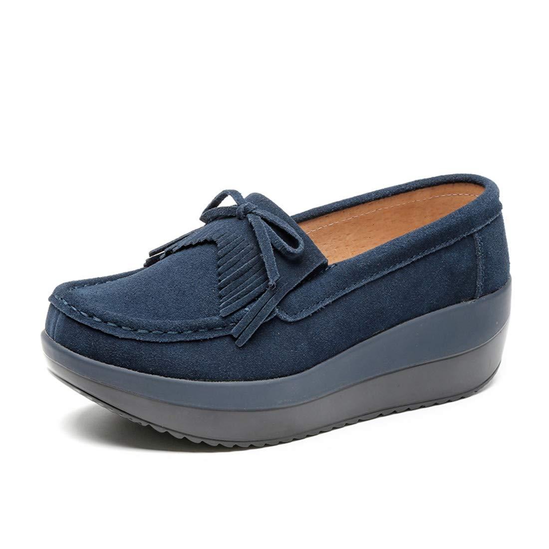 Julitia 2019 Spring Women Flats Shoes Platform Slip On Flat Moccasins Loafers 10 M US