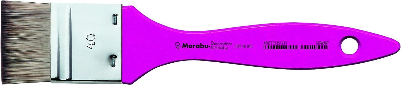 Legno Marabu Decor e Hobby Wide Numero 40/Sintetica di Alta qualit/à Pennello Magenta