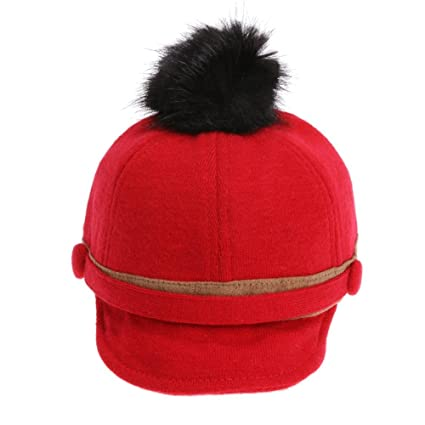 Iainstars Newborn Winter Hat Double Button Caps W Woolen Ball On Top Warm  Cap(Red)  Amazon.in  Toys   Games cf98d30628d