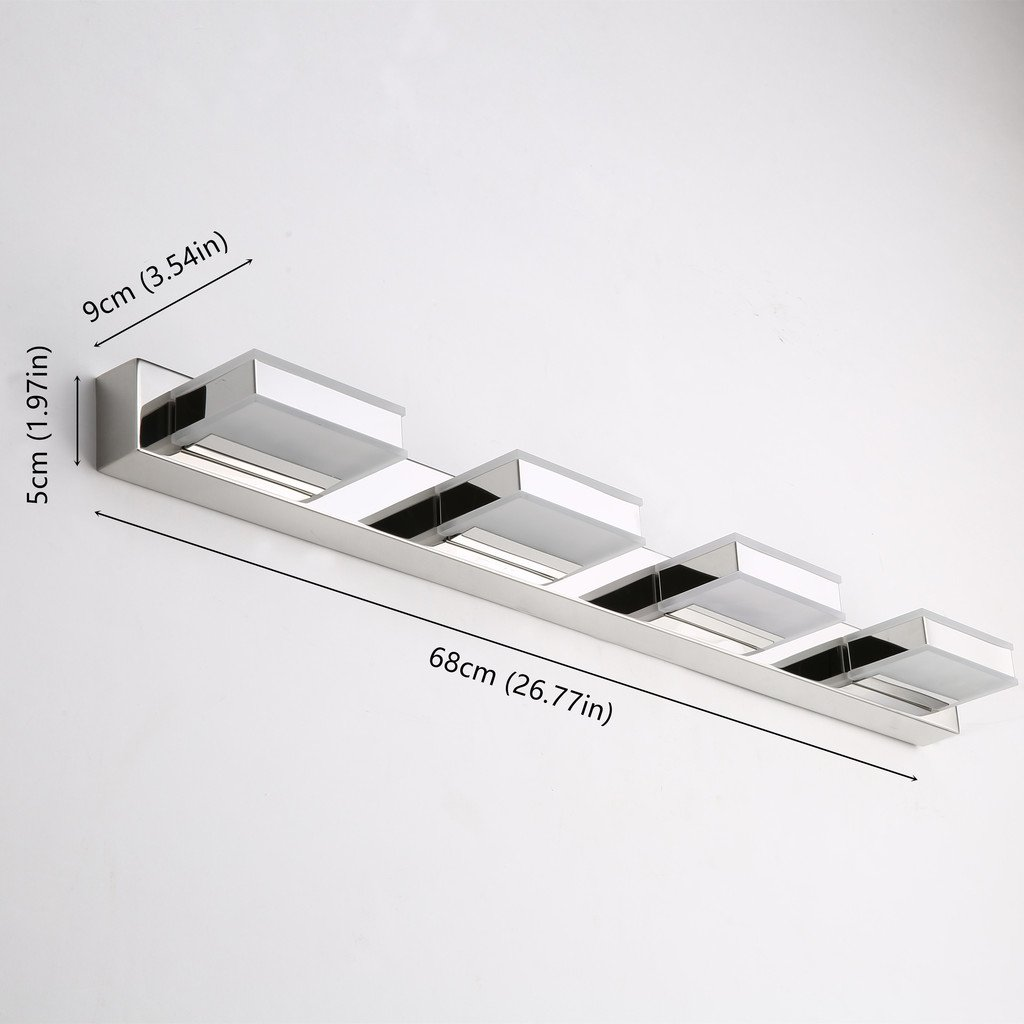 mirrea 16W Modern LED Vanity Light in 4 Lights, Cold White by mirrea (Image #5)