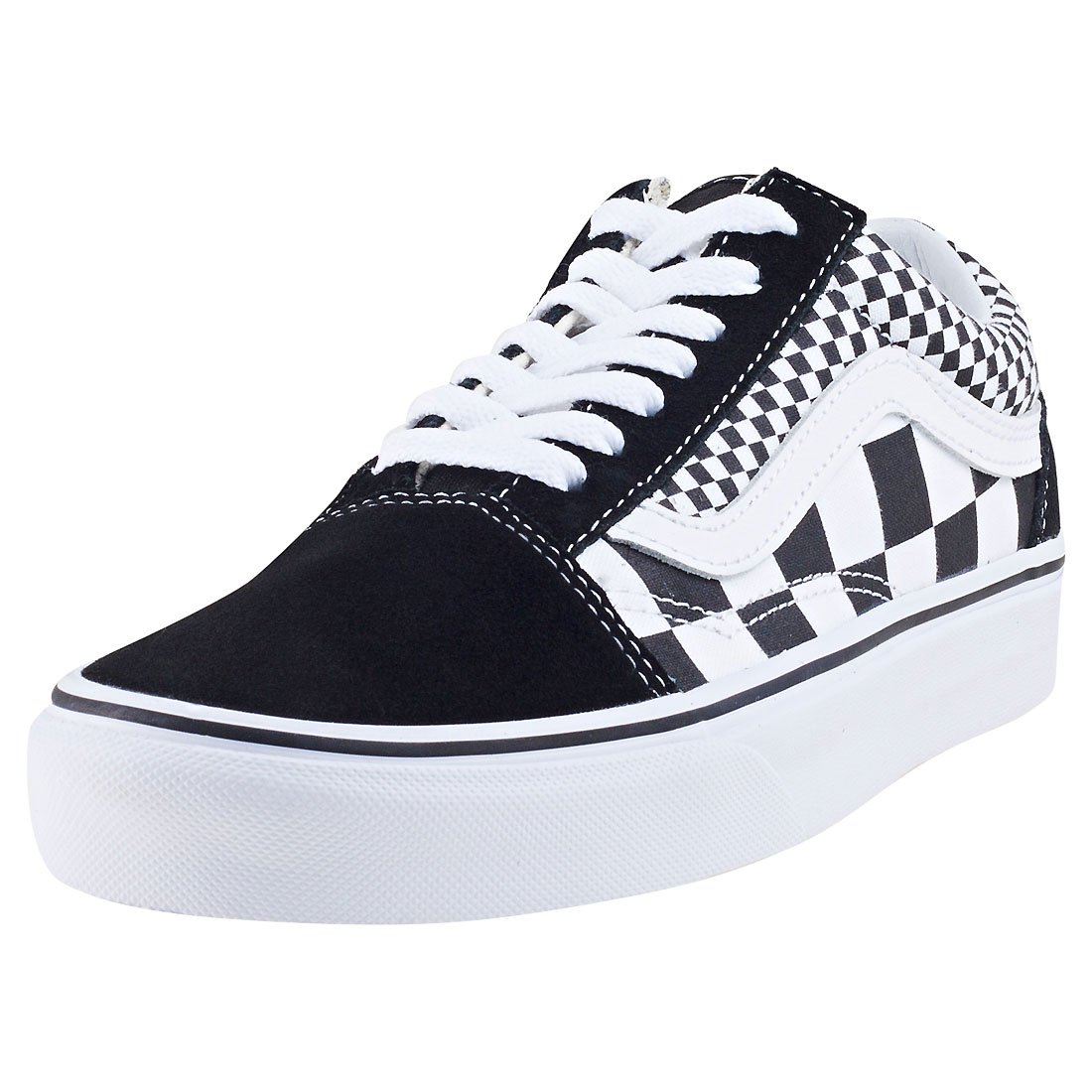 Vans Unisex Old Skool Skate Shoes Checkers/Black/True White 7.5 B(M) US Women/6 D(M) US Men