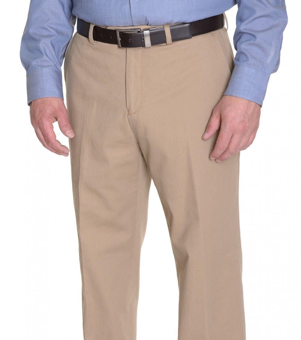 $185 Bloomingdales Khaki Textured Flat Front 100% Wool New Men's Dress Pants (34 Waist) by Bloomingdale's