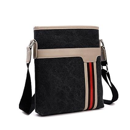 762c32f05ae9 MCNFJD Men Messenger Bags Canvas Vintage Bag Men Shoulder Crossbody Bags  For Man Brown Black Small