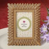 12 Brushed Gold Leaf Design Place Card Frames / Photo Frames