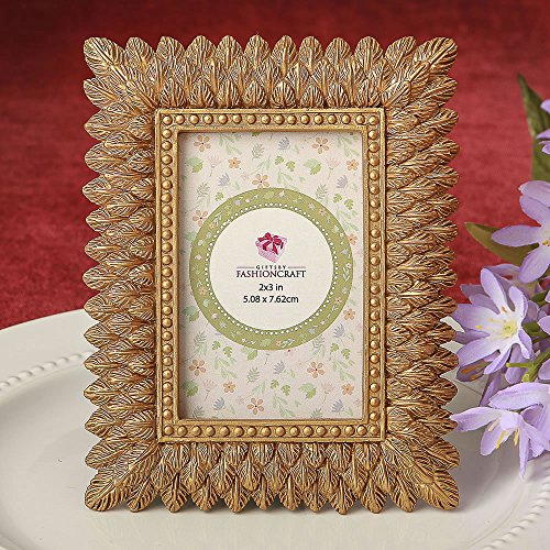 72 Brushed Gold Leaf Design Place Card Frames / Photo Frames by Fashioncraft