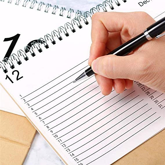 Calendario da Tavolo 2019.09-2020.12 Design Semplice Stand up Calendario da scrivania in Carta per Insegnante Calendario da scrivania Famiglia o Ufficio Commerciale
