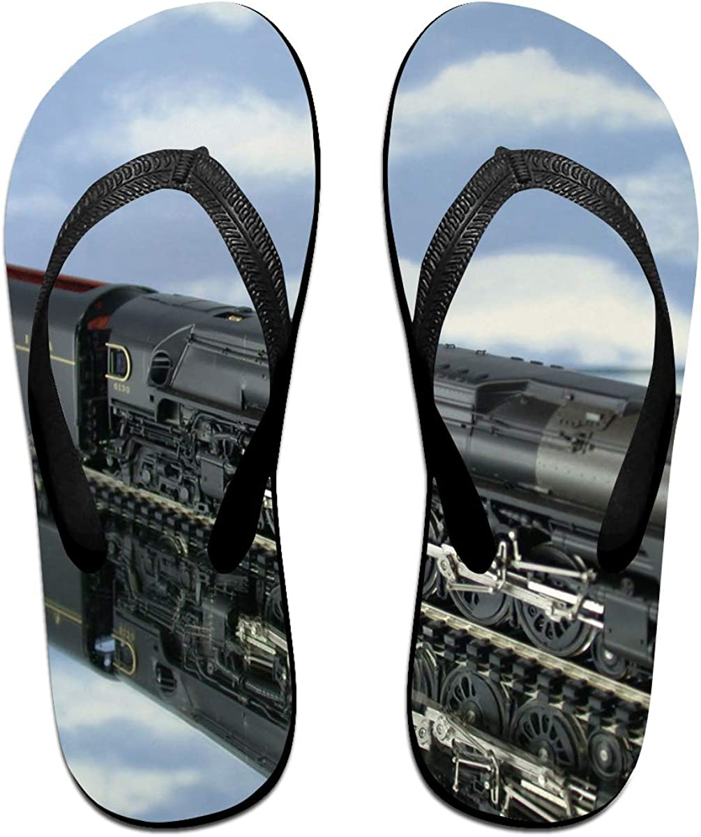Couple Slipper Train Toys Reality Print Flip Flops Unisex Chic Sandals Rubber Non-Slip Spa Thong Slippers
