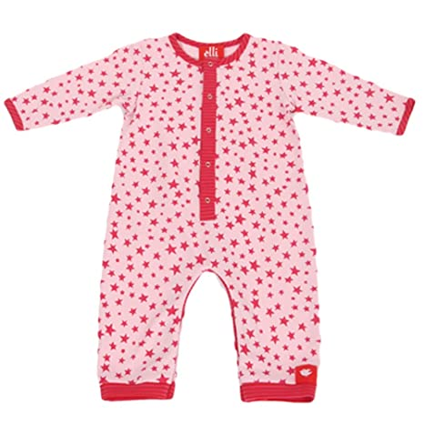 Elli Maravillas Stücke manga larga Pelele bebé niña estrellas rojo Rot, Rosa Talla:56