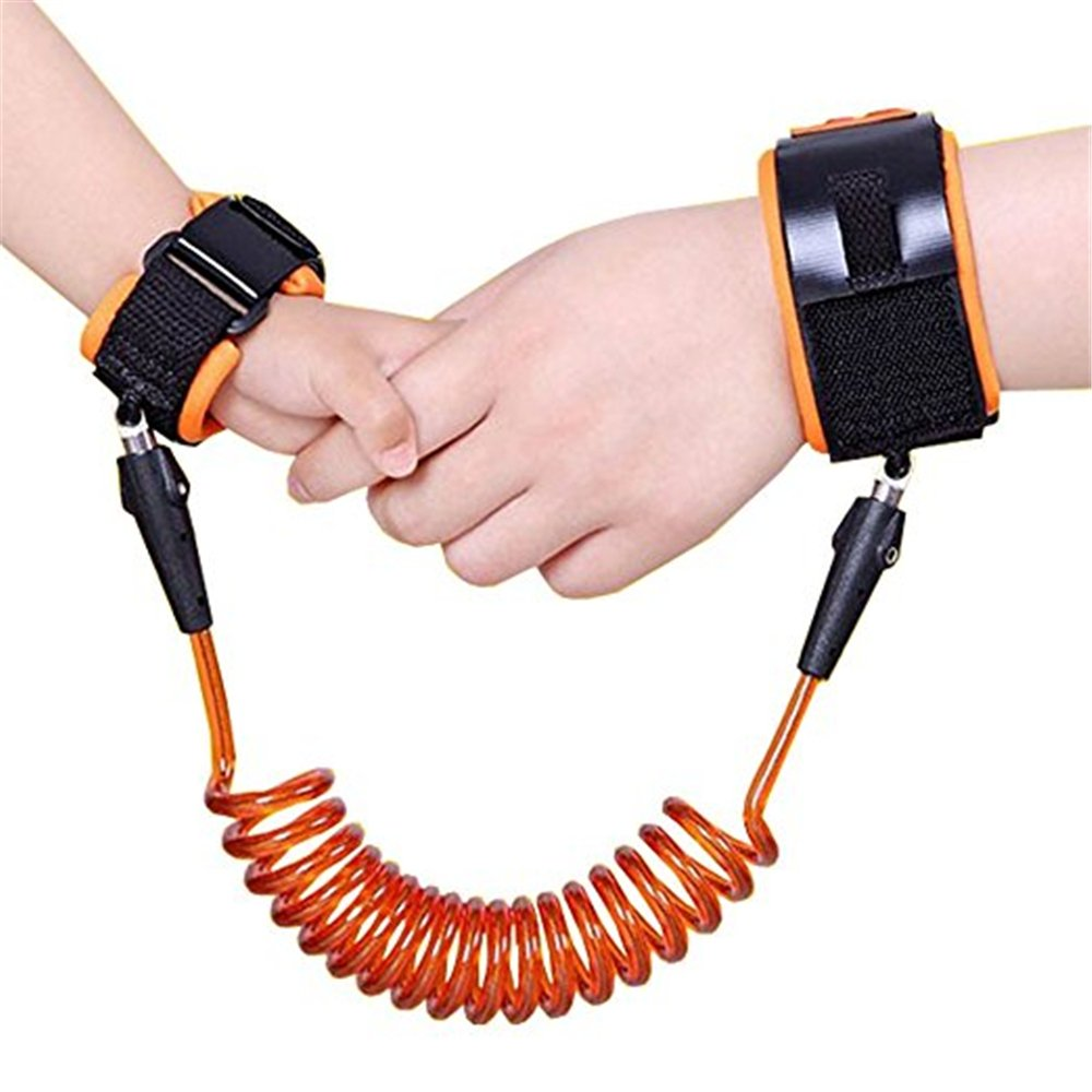 Orange Kidsidol Baby Child Anti Lost Safety Wrist Link Children Harness Walking Leash Hand Band Wristband Wrist Link Soft Comfortable Safe for Toddlers Kids