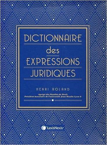 Dictionnaire Juridique Pdf