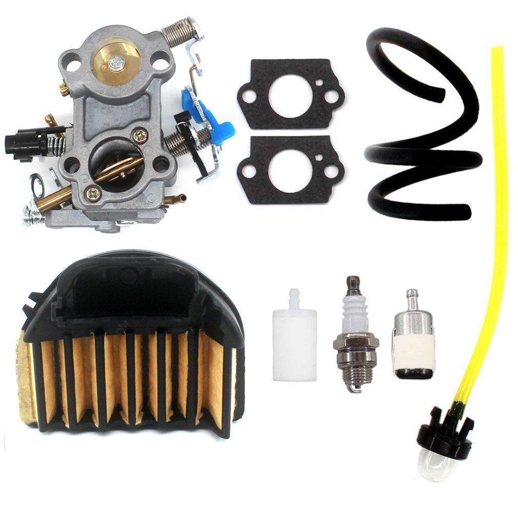 AISEN Carburetor AIR Filter for Husqvarna 455 Rancher 455 E 460 461 Chainsaw 544 88 83-01 WALBRO WTA-29