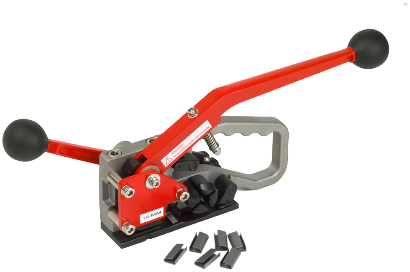 PAC Strapping PAC400HD Heavy Duty Plastic Strapping Manual Combination Tool for 1/2'' Width Strap