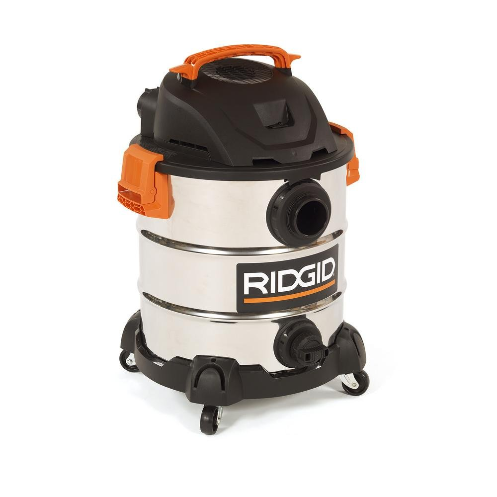 RIDGID 10 Gal. 6.0 Peak HP Stainless Wet Dry Vacuum WD1060 Vac + Toucan City Tile and Grout Brush by Ridgid + Toucan City (Image #8)