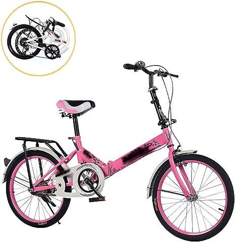 STRTG Bicicleta Plegable, Bikes Plegable Urbana+Adultos Bicicleta Plegable de Aluminio,20 Pulgadas Unisex Adulto Bikes,para Transporte en Coche, autobús, Transporte público,: Amazon.es: Deportes y aire libre