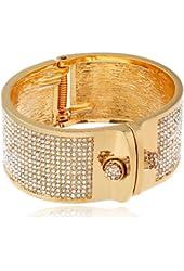 "KARA by Kara Ross ""Small Shirt"" Gold-Plated and Crystal Cuff Bracelet"