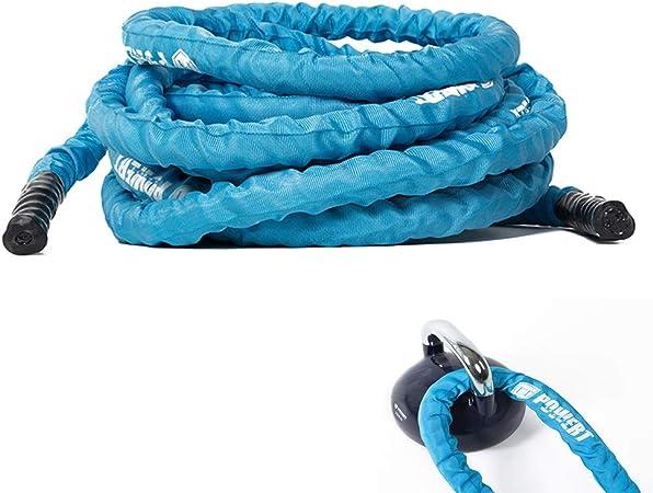 HAHA Battle Rope Cuerda De Batalla Azul con Funda Protectora ...