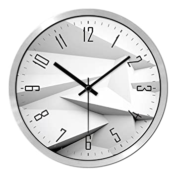 LFGao 16 Zoll Wanduhren Wohnzimmer Kreative Moderne Uhr Quarzuhr ...