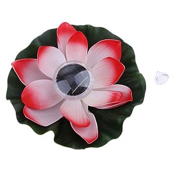 Sharplace Lanterne Chinoise Lampe Solaire Alimenté Fleur de Lotus ...