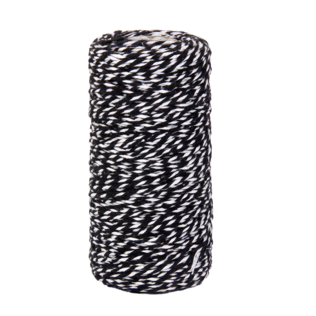 100M Wrap Gift Cotton Rope Ribbon Twine Rope Cord String Black Generic