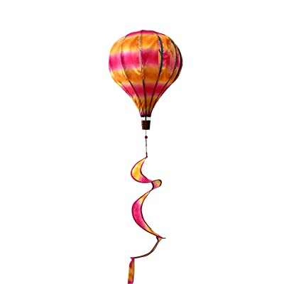 "Briarwood Lane Orange & Pink Deluxe Hot Air Balloon Wind Twister Everyday 54"" L: Garden & Outdoor"