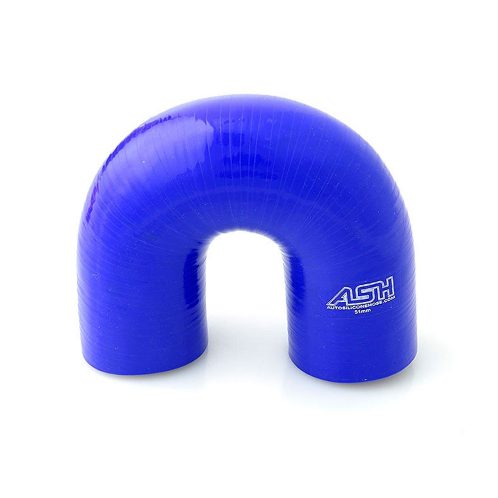 51mm ID Blue 180 Degree Silicone Elbow Hose - AutoSiliconeHoses AutoSiliconeHoses.com